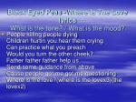black eyed peas where is the love lyrics what is the tone what is the mood