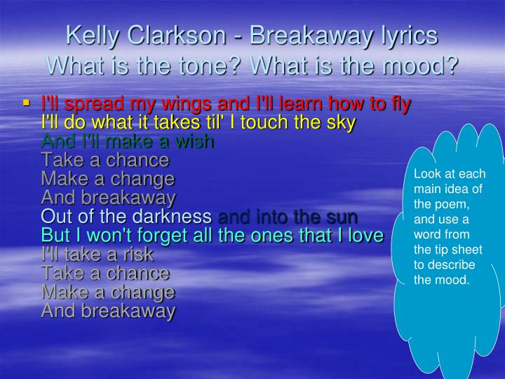 Kelly Clarkson - Breakaway lyrics