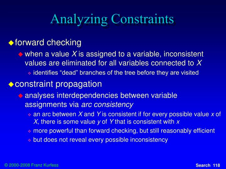 Analyzing Constraints