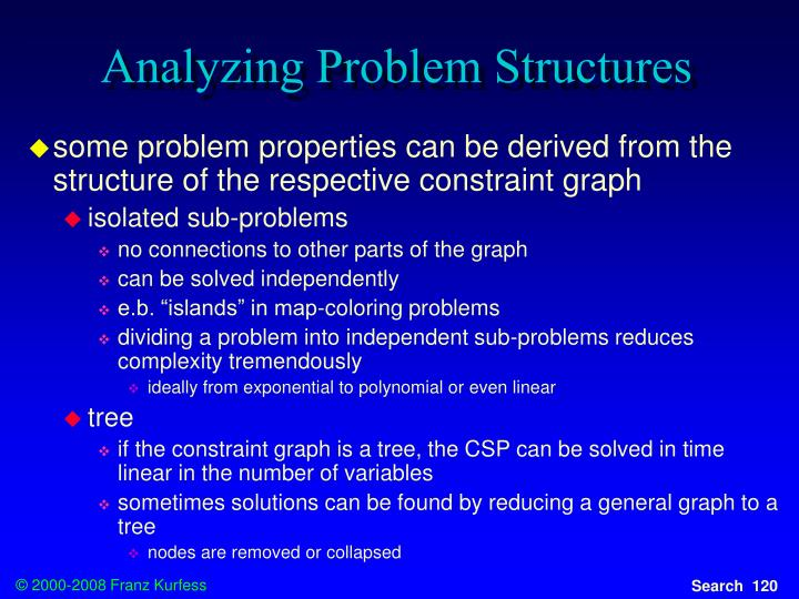 Analyzing Problem Structures