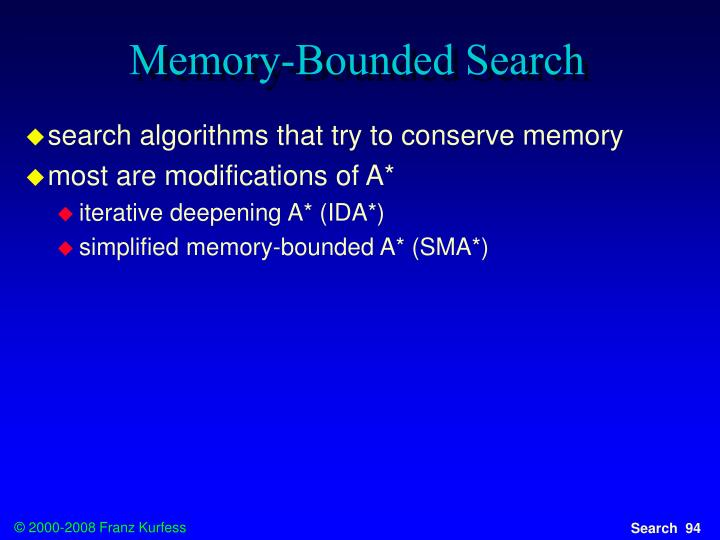 Memory-Bounded Search