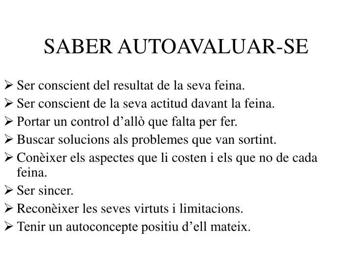 SABER AUTOAVALUAR-SE