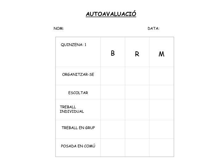 AUTOAVALUACIÓ