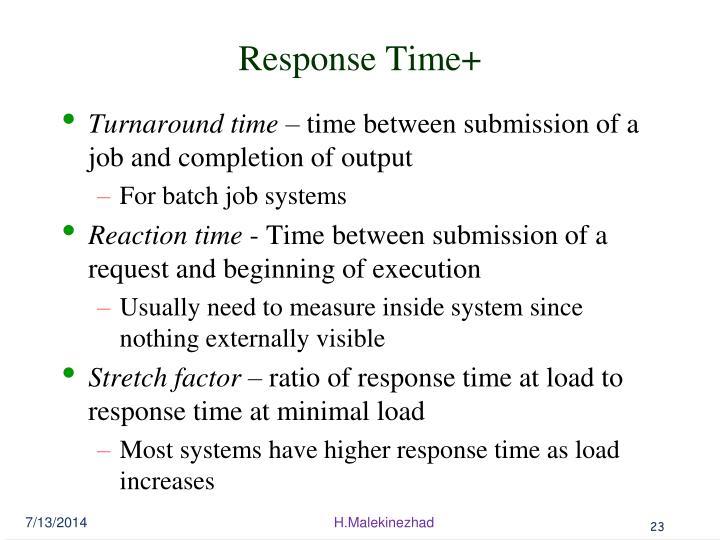 Response Time+