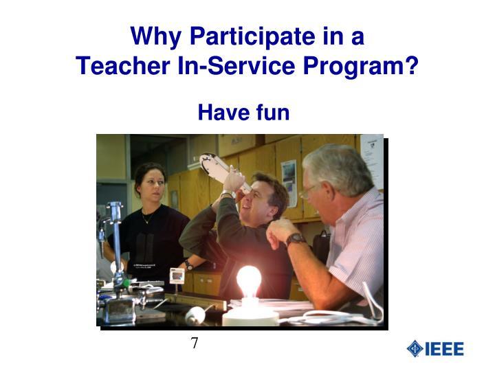 Why Participate in a