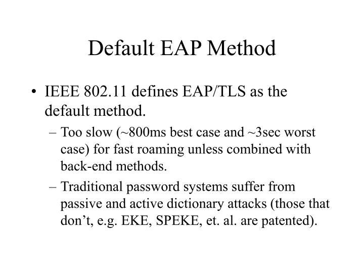 Default EAP Method