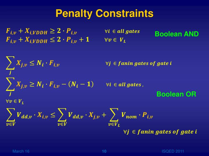 Penalty Constraints