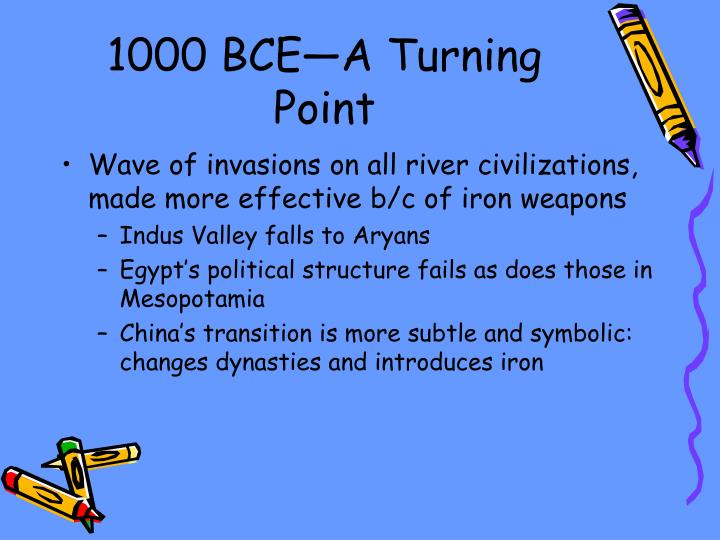 1000 BCE—A Turning Point