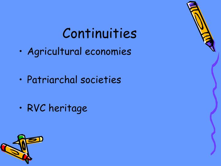 Continuities