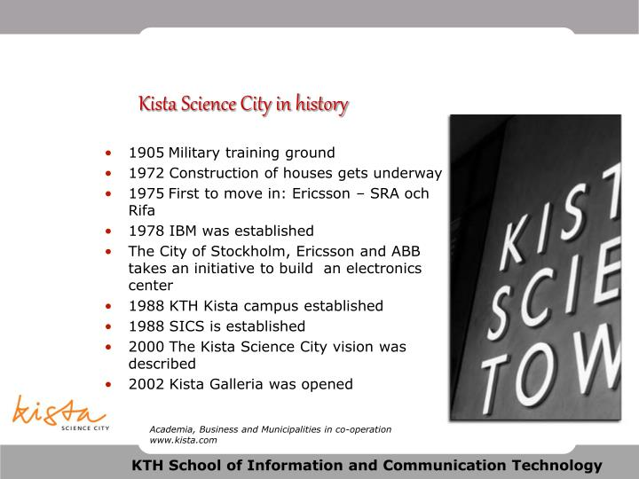 Kista Science City in history