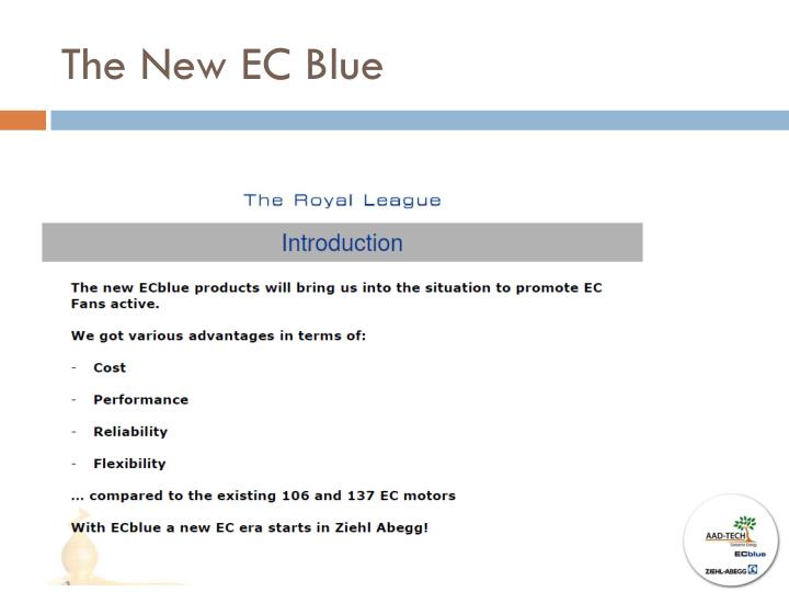 The new ec blue