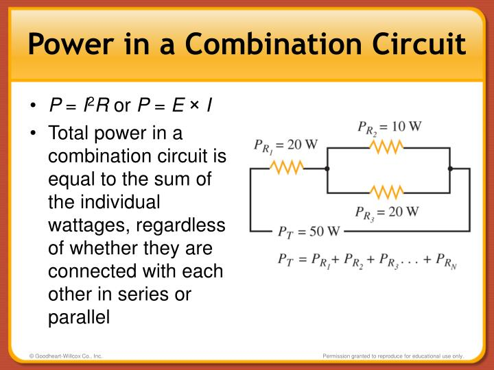 Power in a Combination Circuit