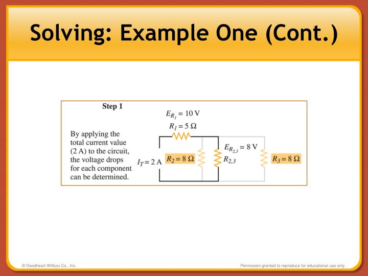 Solving: Example One (Cont.)