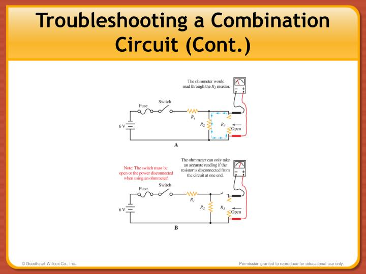 Troubleshooting a Combination Circuit (Cont.)