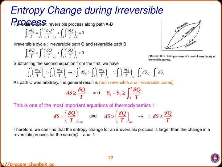 Entropy Change during Irreversible Process