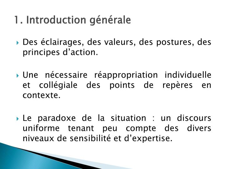 1. Introduction générale