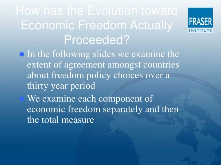 How has the Evolution toward Economic Freedom Actually Proceeded?
