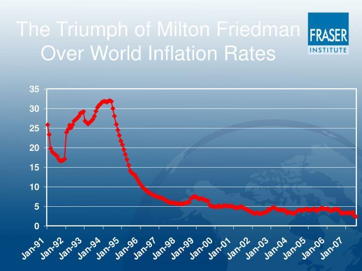 The Triumph of Milton Friedman