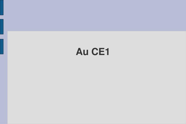 Au CE1