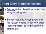 short story elements some