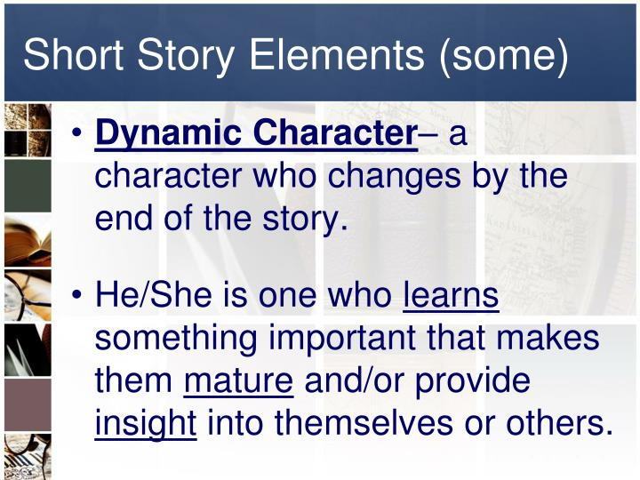 Short Story Elements (some)