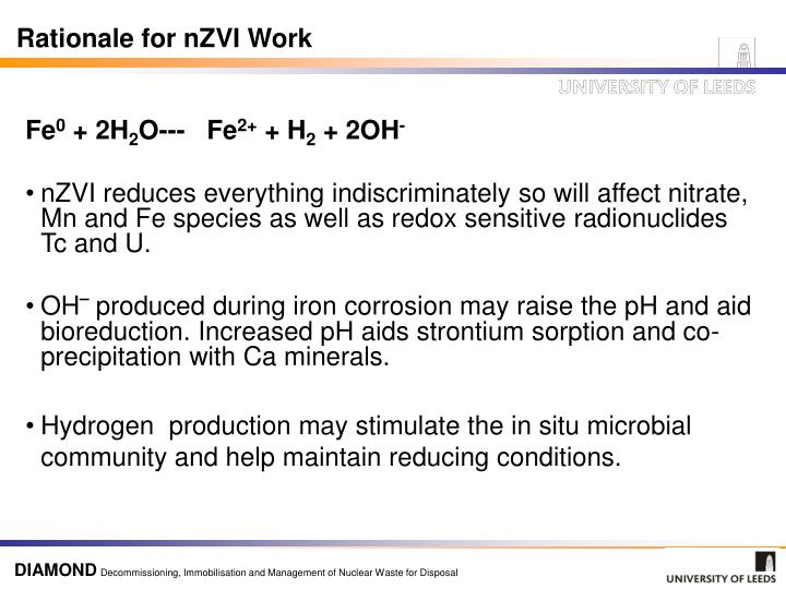 Rationale for nZVI Work