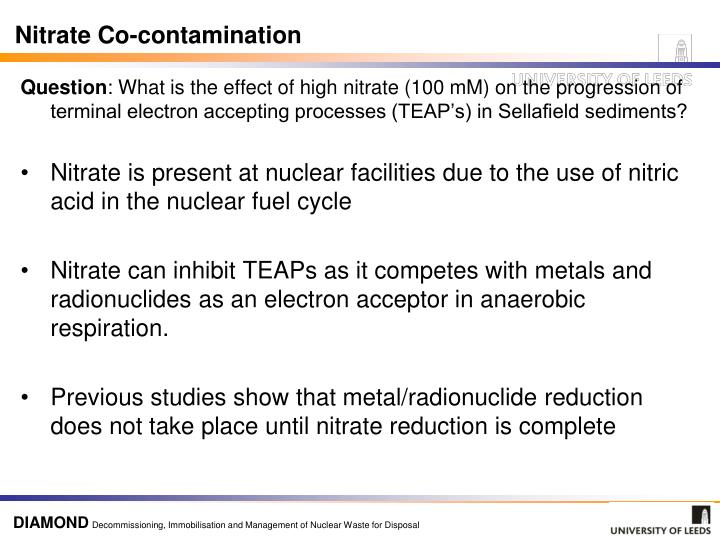 Nitrate Co-contamination