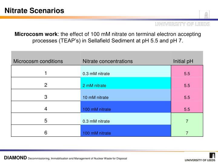 Nitrate Scenarios