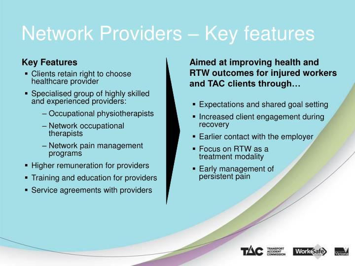 Network Providers – Key features