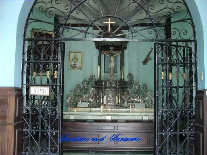Santísimo en el   Santuario
