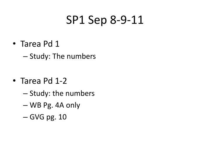 SP1 Sep 8-9-11