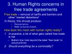 3 human rights concerns in free trade agreements