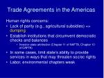 trade agreements in the americas