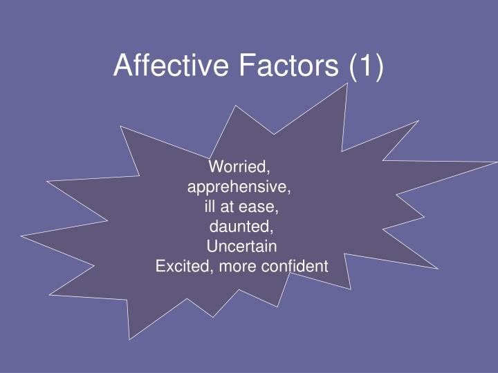 Affective Factors (1)