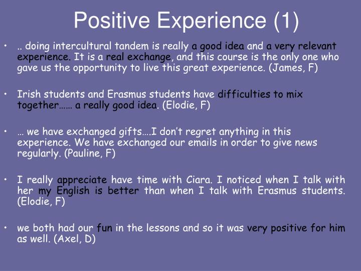 Positive Experience (1)