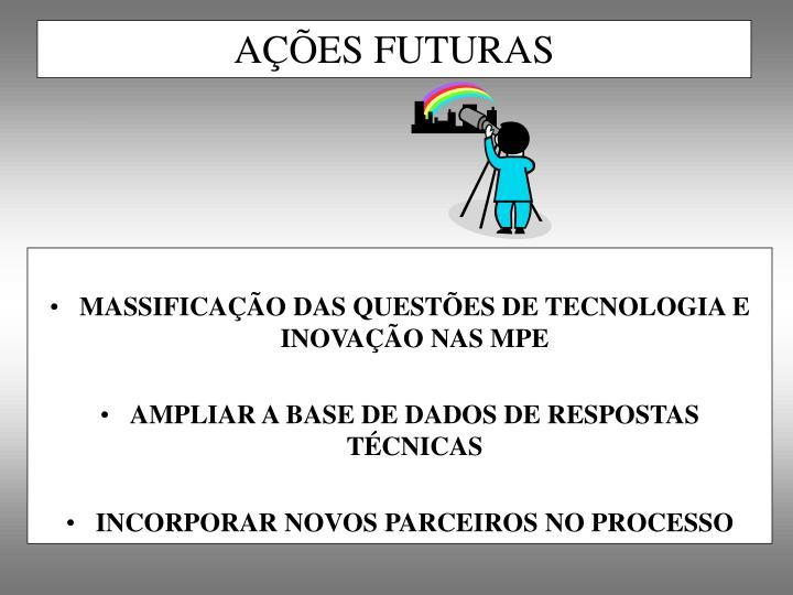 MASSIFICAÇÃO DAS QUESTÕES DE TECNOLOGIA E INOVAÇÃO NAS MPE