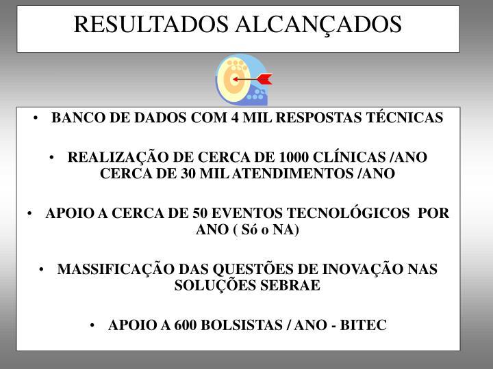 BANCO DE DADOS COM 4 MIL RESPOSTAS TÉCNICAS