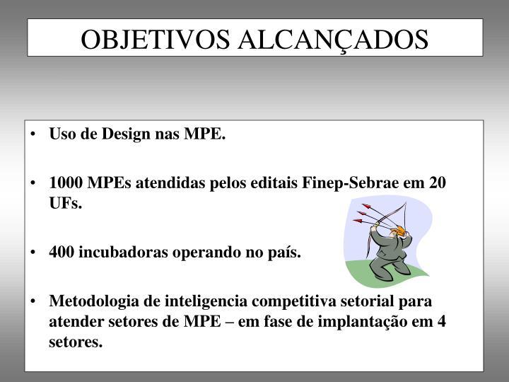 Uso de Design nas MPE.