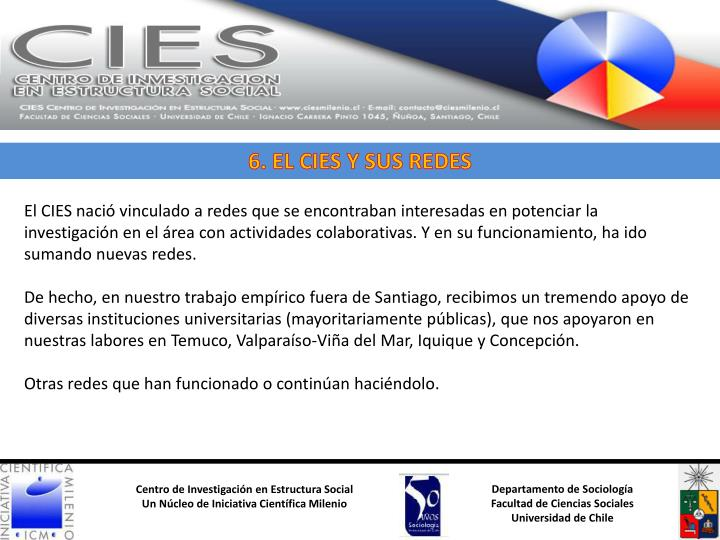 6. EL CIES Y SUS REDES