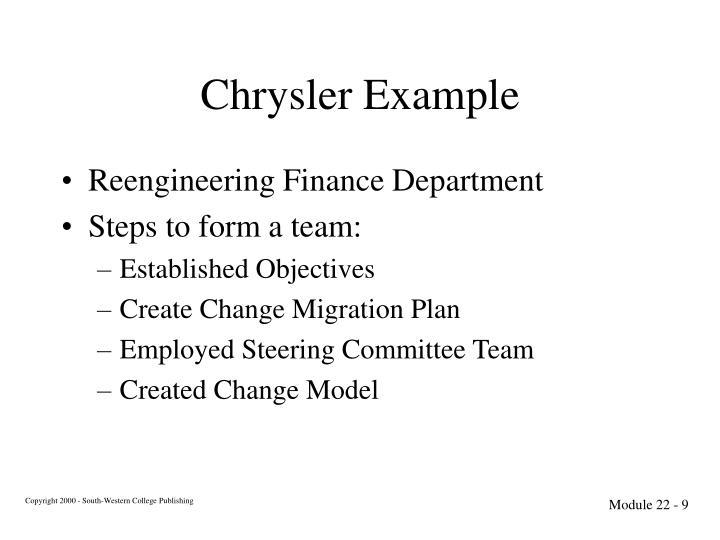 Chrysler Example