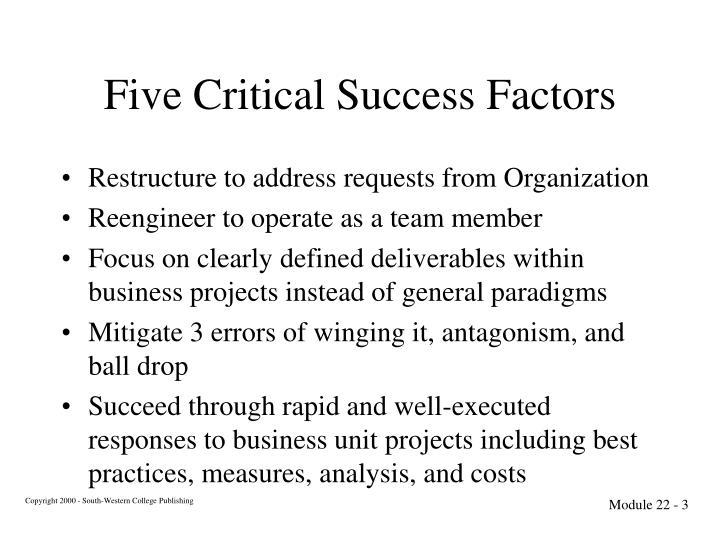 Five Critical Success Factors