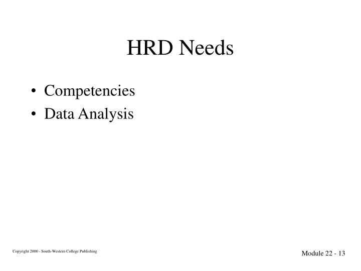 HRD Needs