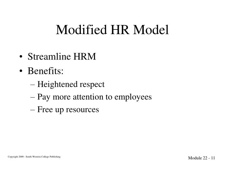 Modified HR Model