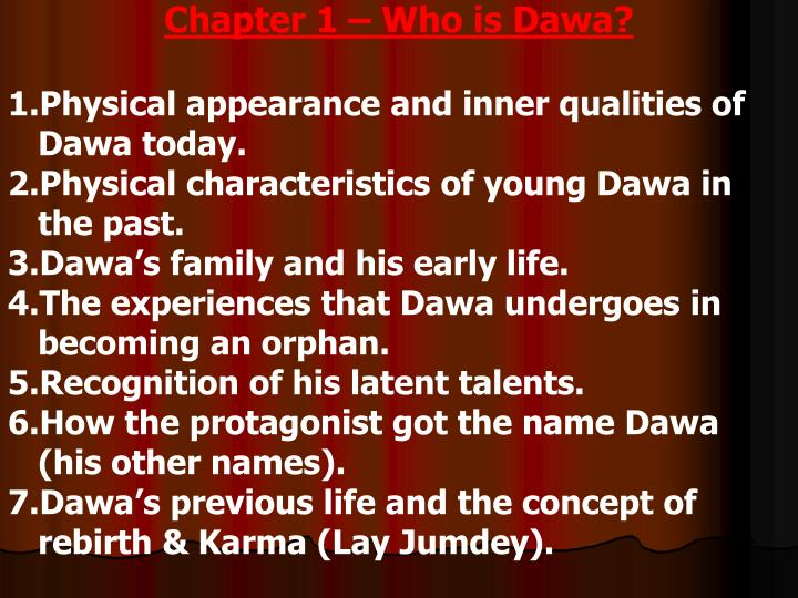 Chapter 1 – Who is Dawa?