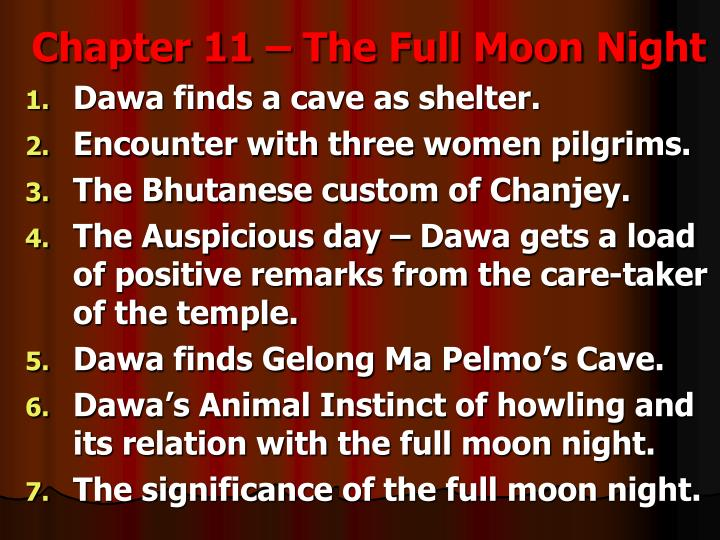 Chapter 11 – The Full Moon Night