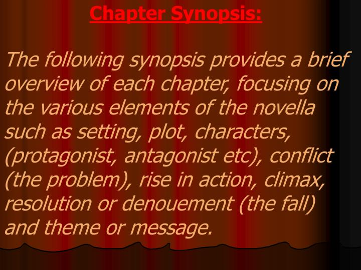 Chapter Synopsis: