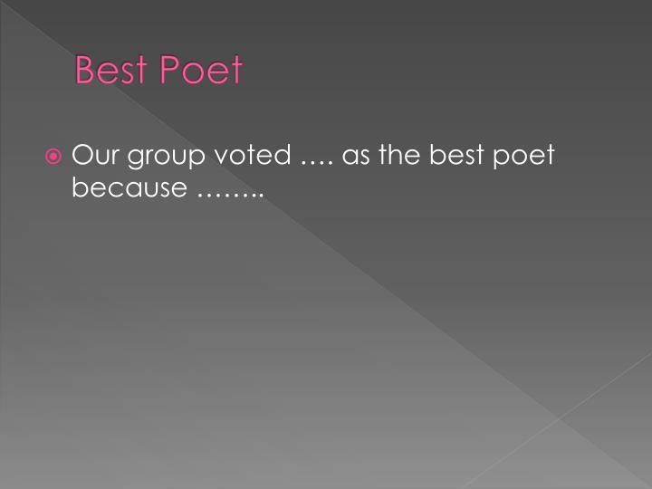 Best Poet