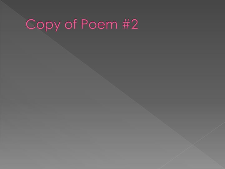 Copy of Poem #2