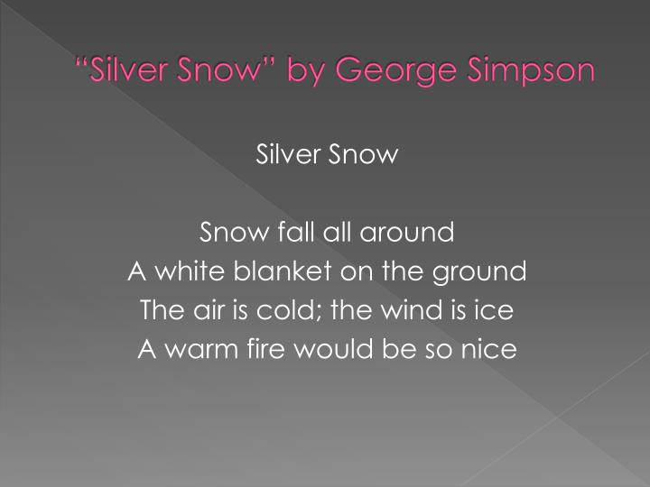 Silver snow by george simpson