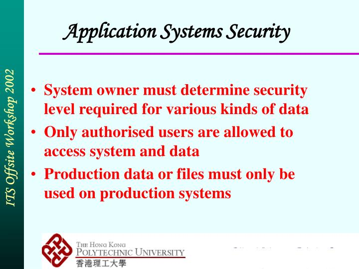 Application Systems Security